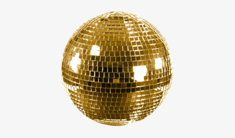 Shiny Gold Disco Ball - Gold Mirror Ball Png, transparent png #159002