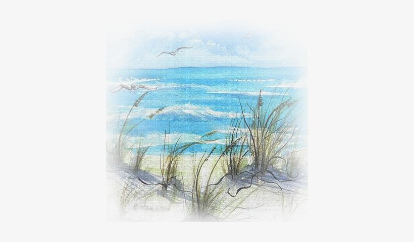 Drawing Beach Watercolor - Beach Scene Beach Watercolour Paintings, transparent png #159245