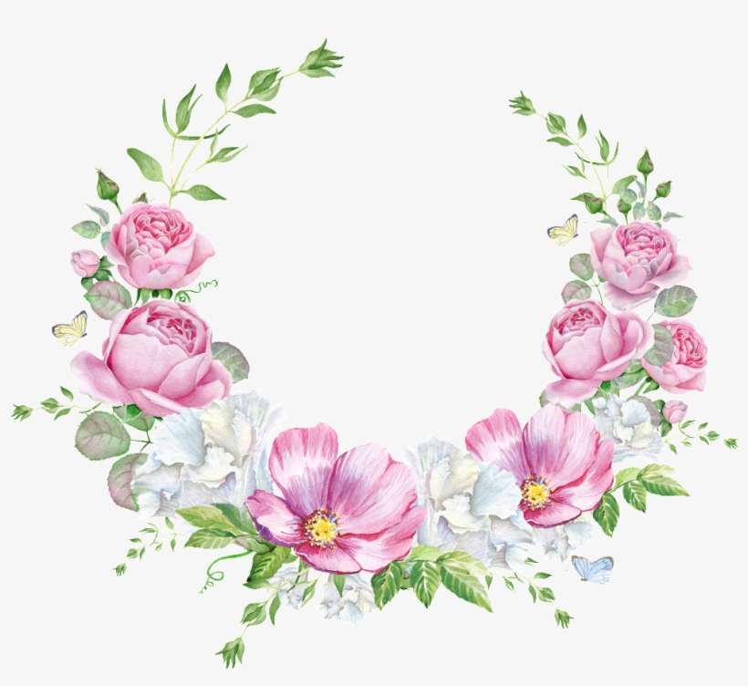 Hand Painted Layout Wedding Background Wall Pattern Pink Flower