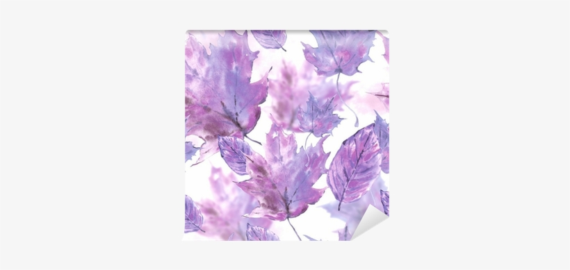 Watercolor Leaves Seamless Autumn Background Wall Mural - Watercolor Painting, transparent png #159747
