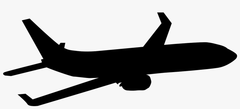 Plane Silhouette Clip Art - Airplane Silhouette Png, transparent png #159766