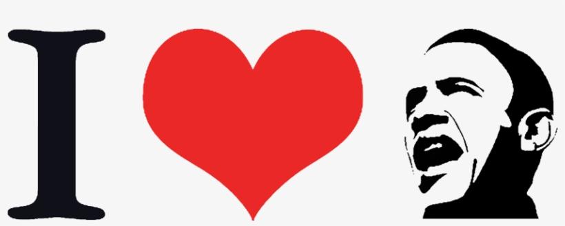 The I Heart Obama T Shirt - Png I Love, transparent png #1501123
