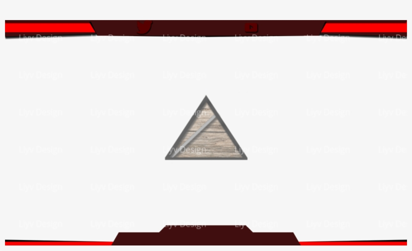 Picture - Free Twitch Overlay Red, transparent png #1501743