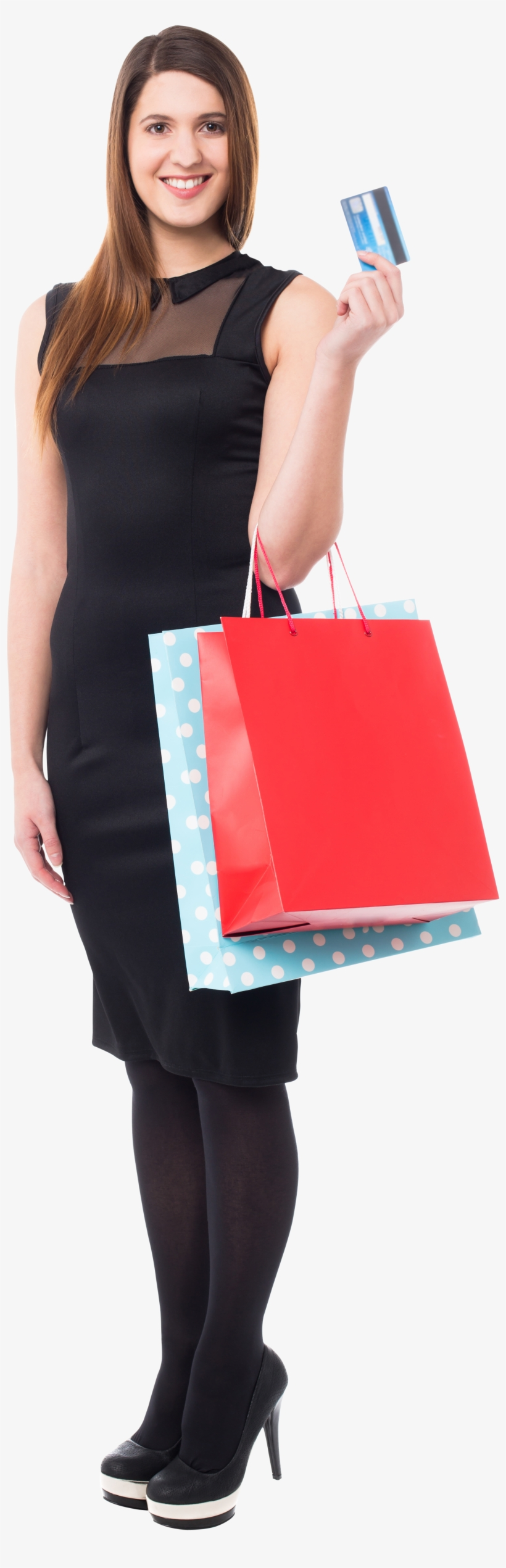 Women Shopping Download Free Png Image - Woman Shopping Bag Png, transparent png #1502289