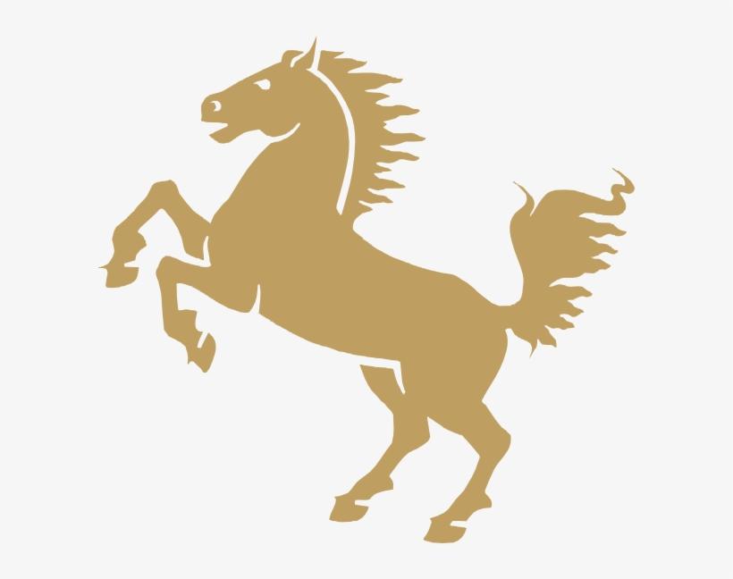 Horse Clip Art At Clker Com Vector - Gold Horse Clipart, transparent png #1503751