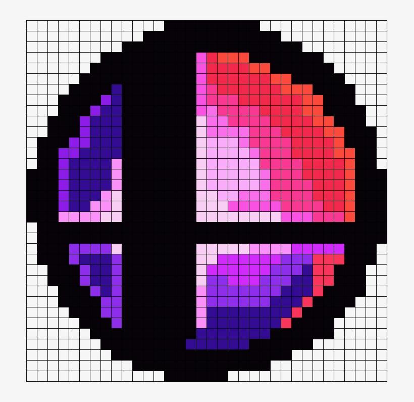 Super Smash Bros Smash Ball Perler Bead Pattern / Bead - Minecraft Pixel Art Super Smash Bros, transparent png #1504190