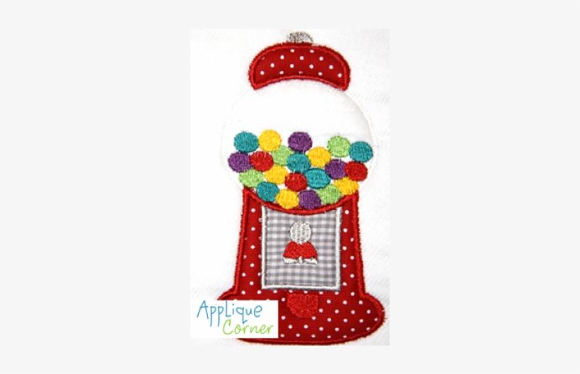 Applique Corner Gumball Machine Large Applique Design, - Gumball Machine, transparent png #1505277