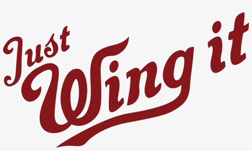 Just Wing It - Chicken Wing Logo Png, transparent png #1508633