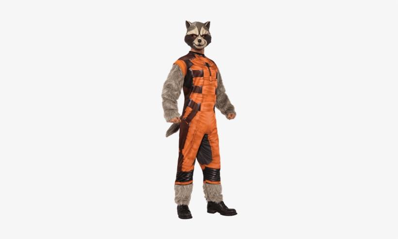 Adult Deluxe Rocket Raccoon Costume - Rocket Raccoon Costume, transparent png #1508845