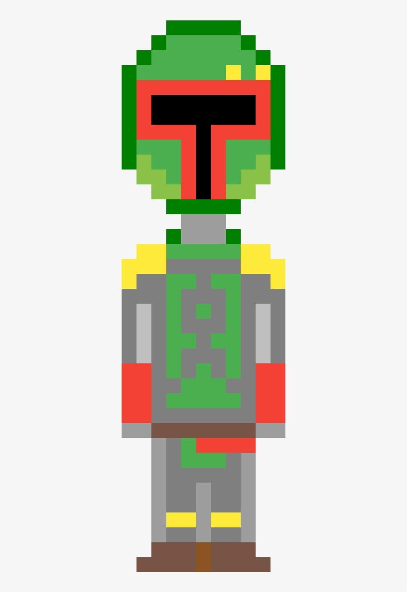 Jango Fett Helmet Pixel Art Wwwtopsimagescom