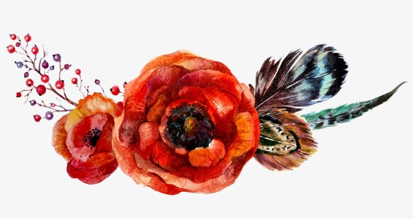 Poppy Flowers Flower Watercolor - Watercolor Flowers Vector Orange, transparent png #1513085