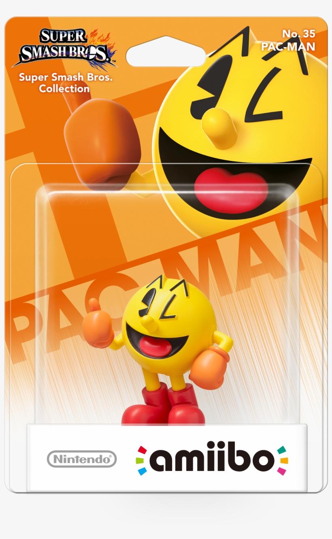 Pac Man Amiibo Pack Shot - Super Smash Bros Pac Man Amiibo, transparent png #1513311