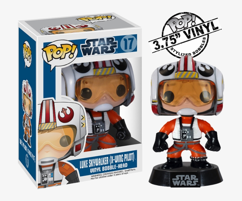 Luke Skywalker X-wing Pilot Pop Vinyl Figure - Funko Star Wars Pop, transparent png #1514046