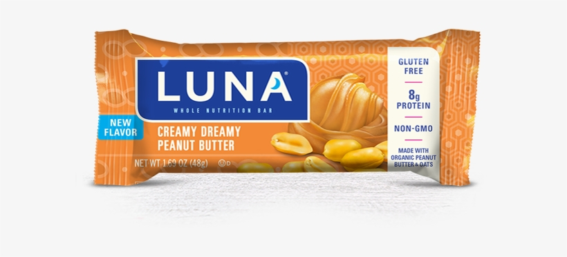 Creamy Dreamy Peanut Butter Packaging - Luna Sea Salt Caramel, transparent png #1514317