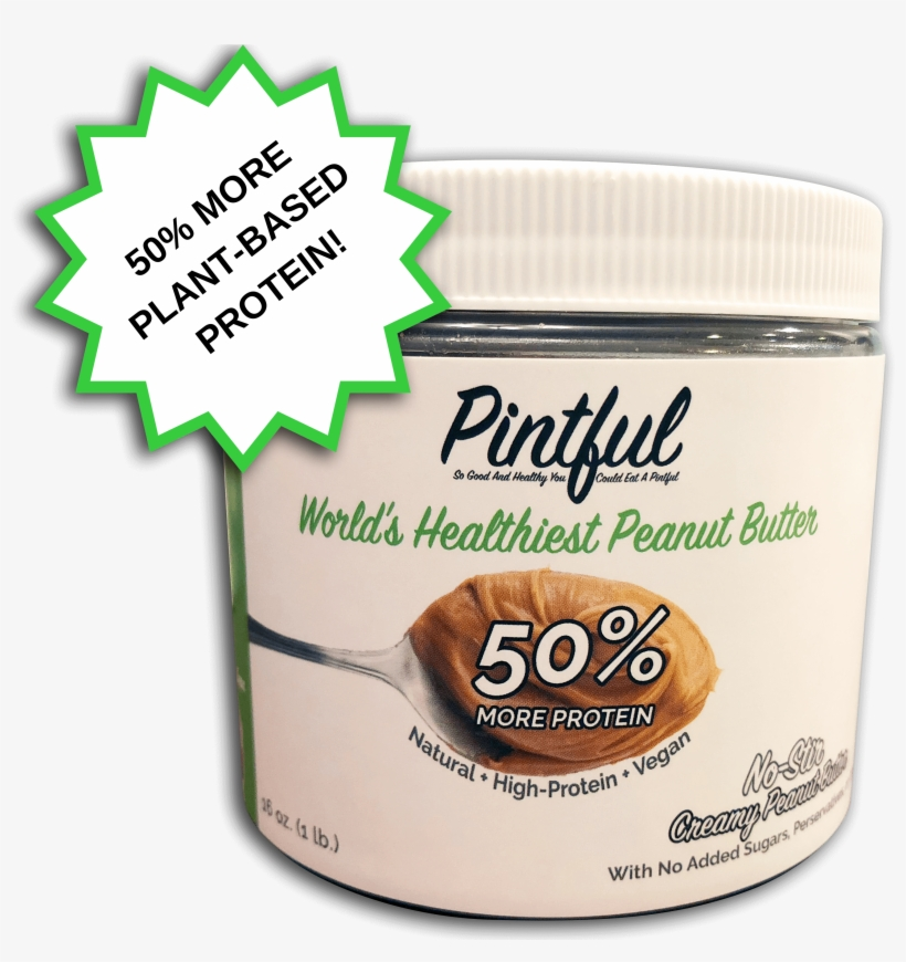Pintful Peanut Butter Pint With 50% More Protein - Peanut Butter, transparent png #1514940