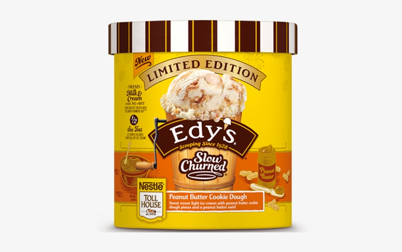 Peanut Butter Cookie Dough - Edy's Peanut Butter Cookie Dough Ice Cream, transparent png #1515376