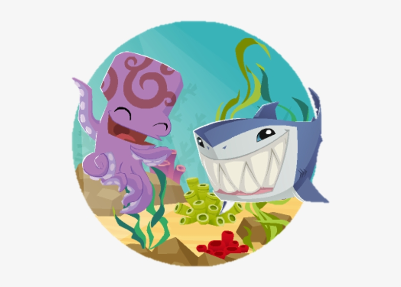 Shark And Octopus Jam Session Pet Dolphins Sandcastle - Animal Jam Annual 2018 64pp Special, transparent png #1515925