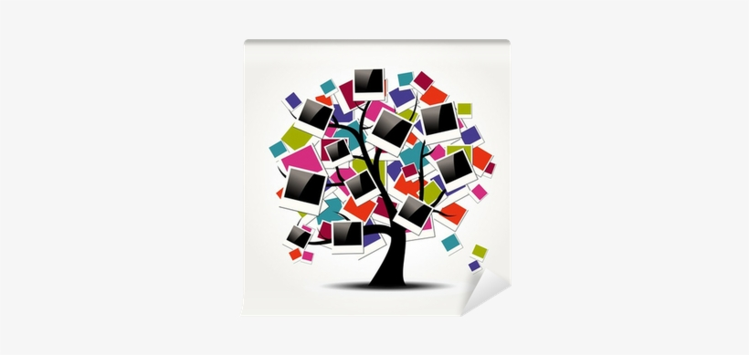 kids polaroid frame png memory family tree with polaroid colorful