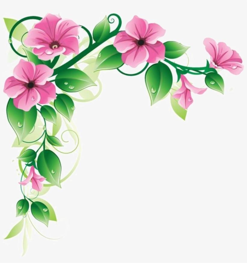 Flower Frame Png Pic - Flower Corner Designs Png, transparent png #1522595