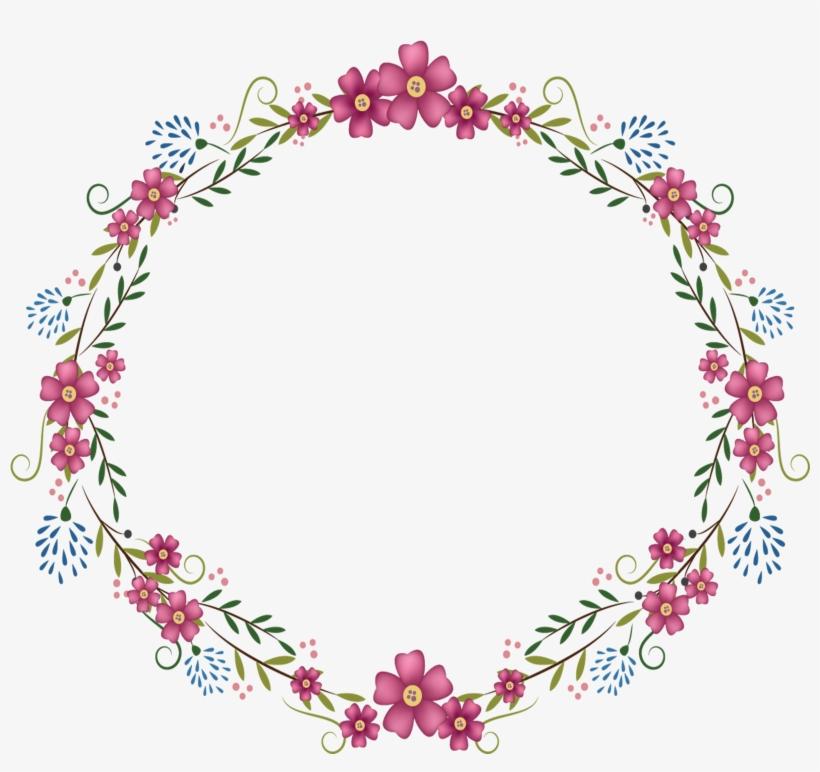 Round Flower Frame Png, transparent png #1522871