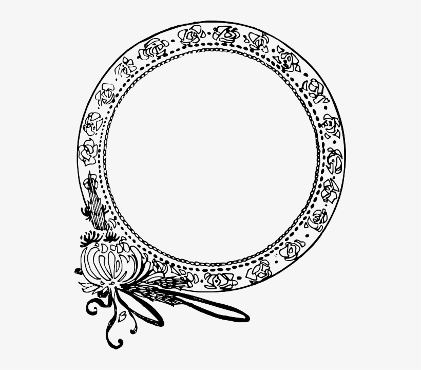 Circle, Decorative, Flower, Frame - Round Border Clip Art, transparent png #1523338