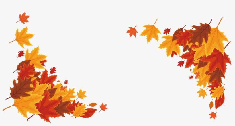Red Leaf Border Transprent - Maple Leaf Border Png, transparent png #1523997