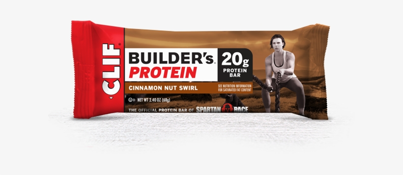Cinnamon Nut Swirl Packaging - Clif Builders Protein Bar Crunchy Peanut Butter, transparent png #1524684