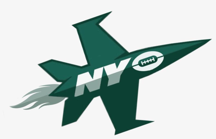 Jets Flying High - New York Jets Plane Logo, transparent png #1525295