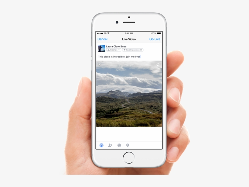 Facebook Live On Ios - Coming Live On Facebook, transparent png #1527493