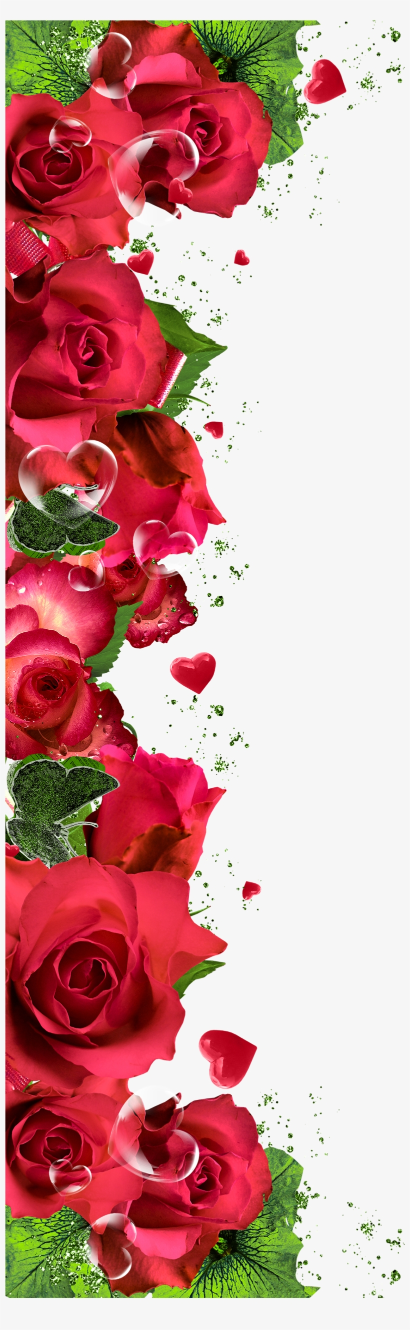 Rose Flower Borders Frames Png, transparent png #1528782