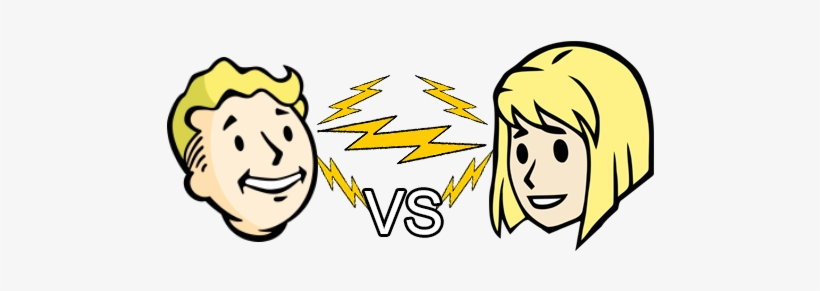 There Are Two Primary Editions - Vault Boy Vs Vault Girl, transparent png #1529491