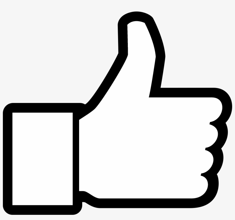 Thumbs Up Facebook Logo Black And White - Thumbs Up Icon Svg, transparent png #1531944