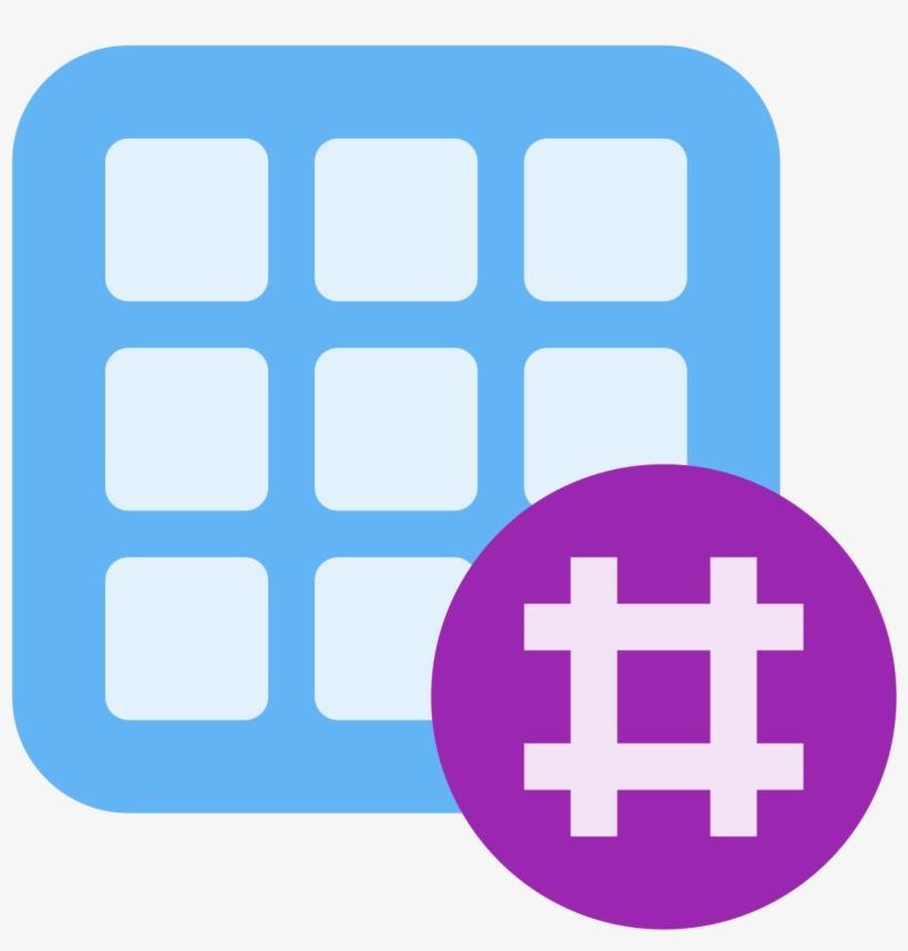 Hashtag Activity Grid Icon - Hashtag, transparent png #1532236