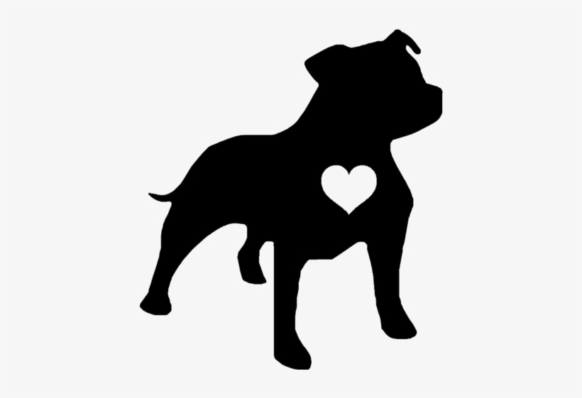 Staffie Heart Decal Sticker Tattoes Pinterest Tattoo Staffordshire Bull Terrier Silhouette Free Transparent Png Download Pngkey