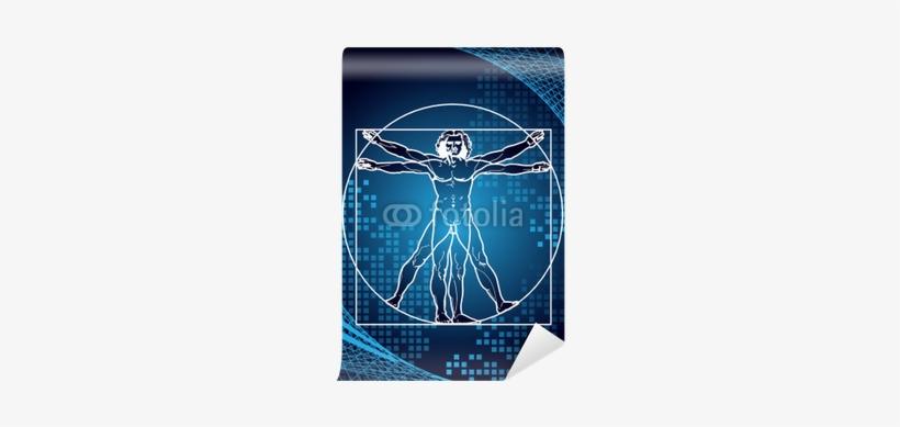 Leonardo's Vitruvian Man Wall Mural - Digital Vitruvian Man, transparent png #1534116