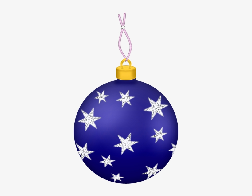 Transparent Blue Ball With Stars Gallery View - Christmas Ball Ornaments Transparent, transparent png #1534724