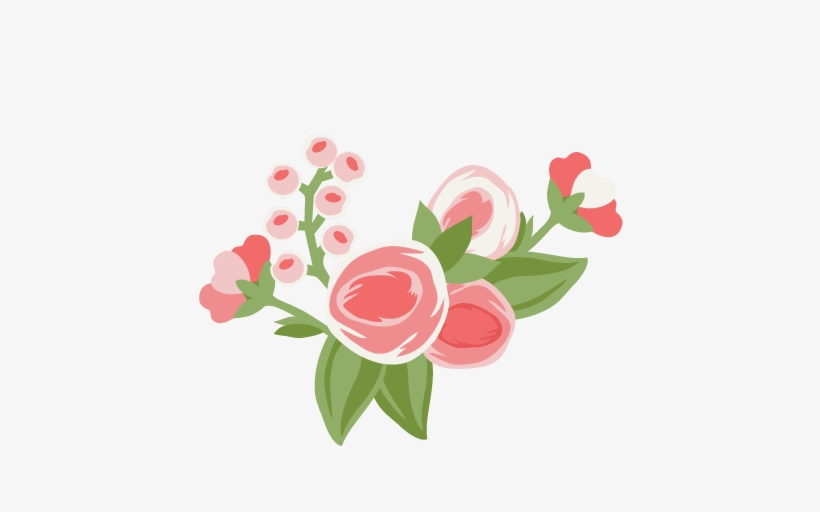 Pretty Flower Group Cut File Svg Cutting File For Scrapbooking