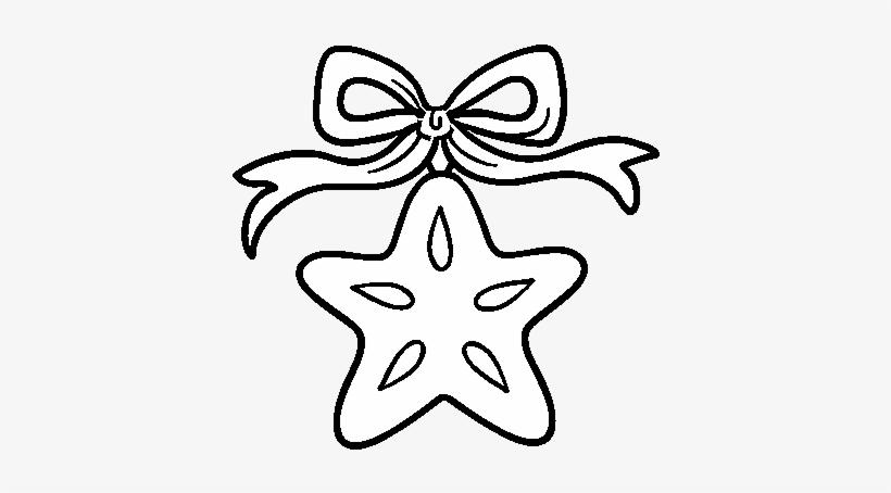 A Christmas Star Coloring Page Dibujos De Adornos Navideños Para