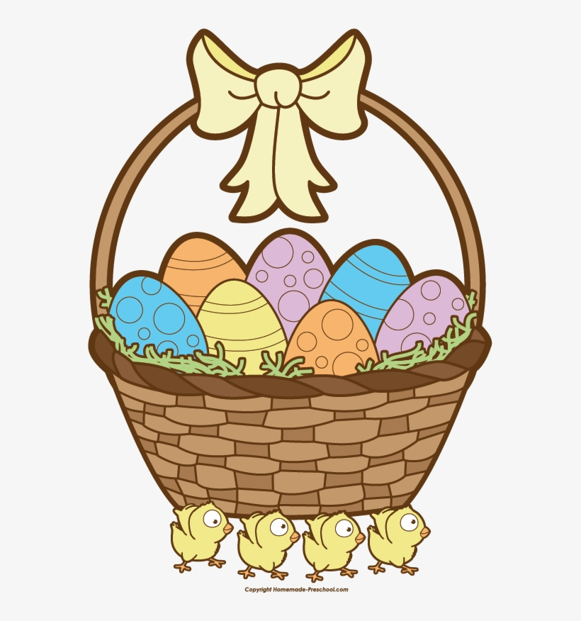 Easter Basket Clipart Black And White Images Clipart - Easter Basket Clip Art, transparent png #1536290