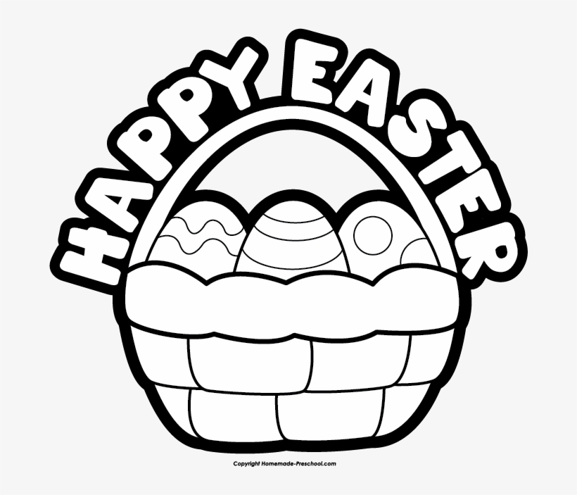 Free Easter Basket Clipart - Happy Easter Images Black And ... Easter Clipart Free Black And White