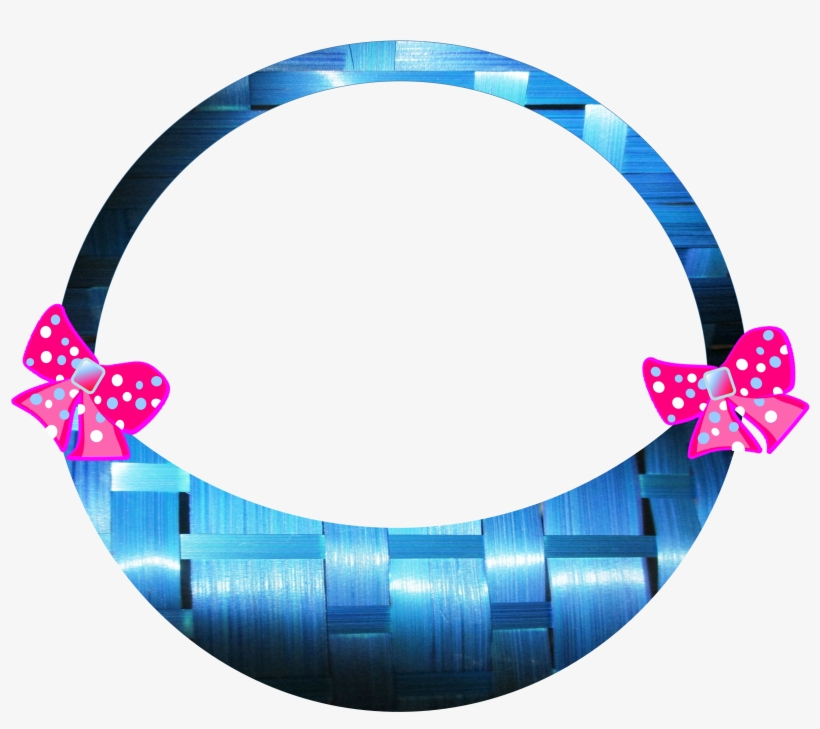 Easter Basket Bows Blue Weave 694347 - Easter Basket, transparent png #1536707