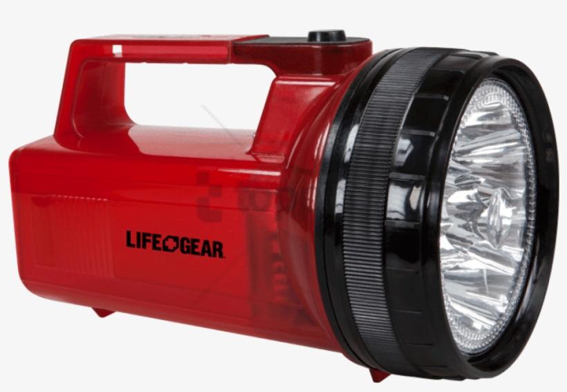 Glow Spot - Life Gear 2-in-1 Ar-tech Spot Light Flashlight And, transparent png #1538231