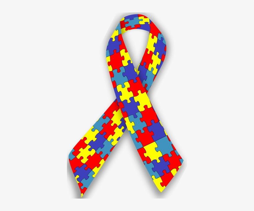 Autism Awareness Ribbon Clipart - Autism Spectrum Disorder Ribbon, transparent png #1543933