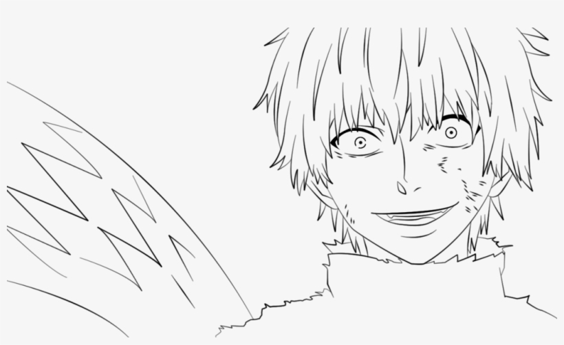 Clipart Stock White Haired Kaneki Lineart By Raioya Ken