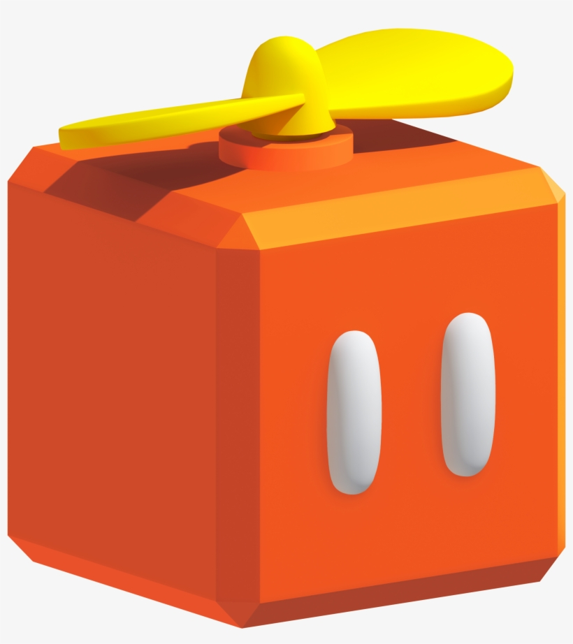 Raccoon Mario The Propeller Block Blog By Iceflower4me - New Super Mario Bros Wii Propeller Block, transparent png #1548335