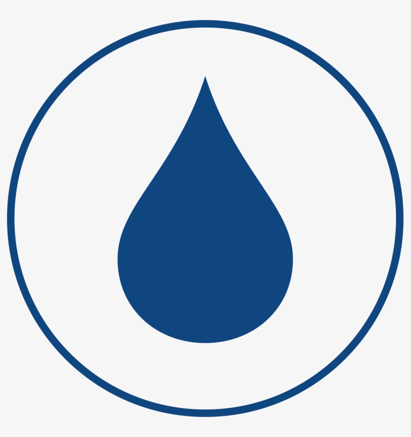 Water Drop Logo Png Download - Water Drop Icon Blue, transparent png #1548990