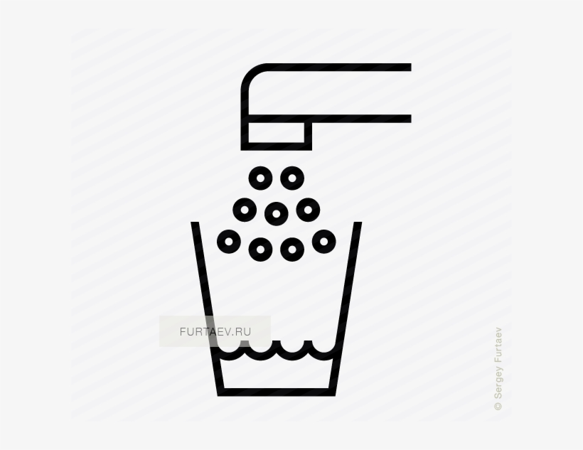 Vector Icon Of Glass Filling Up With Tap Water - Water Filling Icon, transparent png #1549017