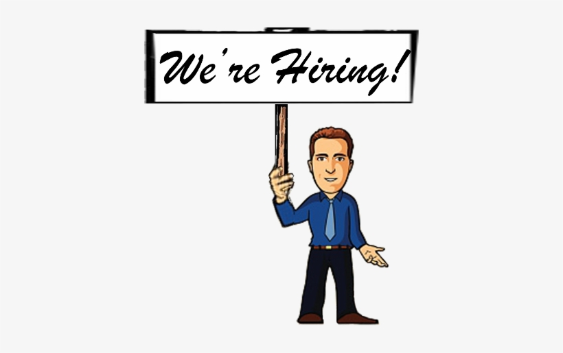 Below Are The Positions We Have Available - We Are Hiring Cartoon Png, transparent png #1549178