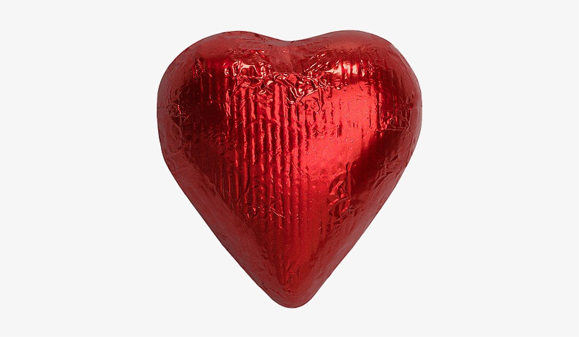 Red Foiled Solid Milk Chocolate Hearts Bulk Bags For - Just Candy Red Solid Milk Chocolate Foiled Hearts, transparent png #1549207