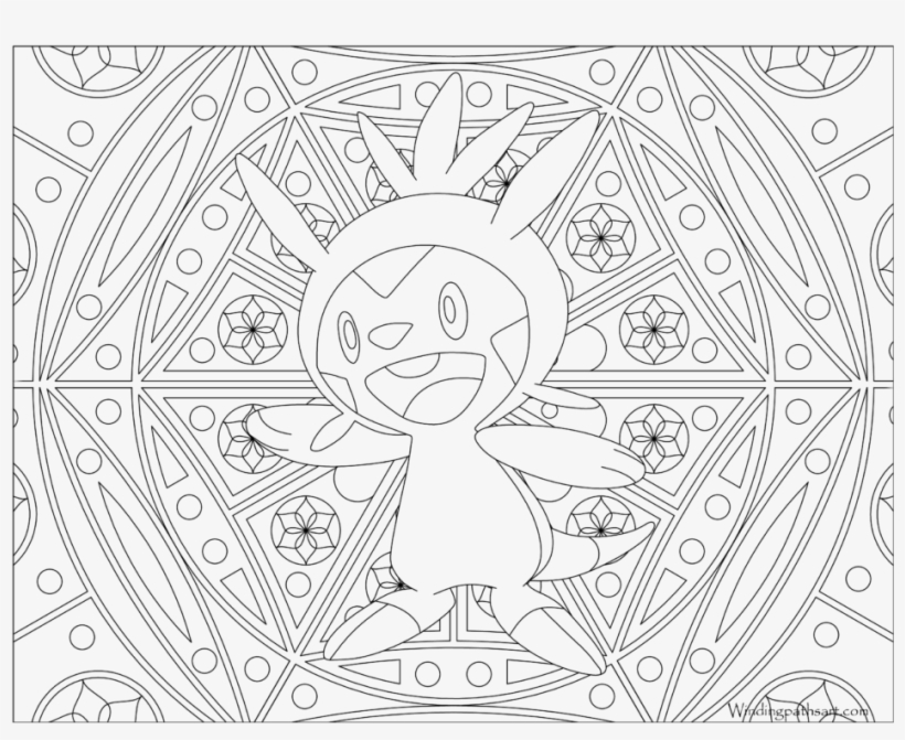 Adult Pokemon Coloring Page Chespin - Pokemon Adult Coloring Pages, transparent png #1550743